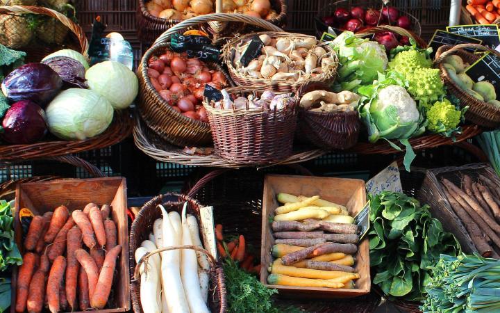 Local Market in Labaroche