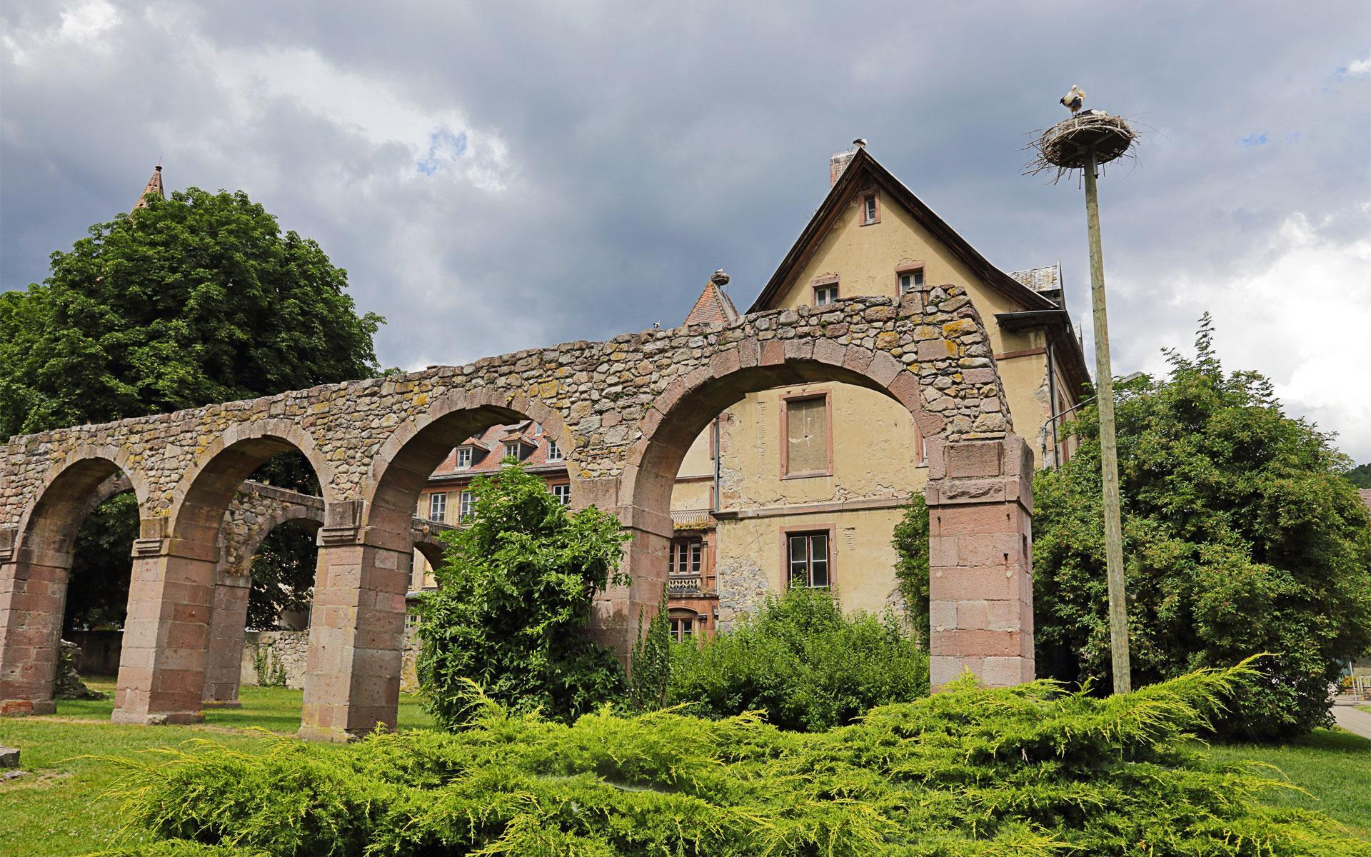 Ruins of the past Abbey of Saint-Grégoire in Munster